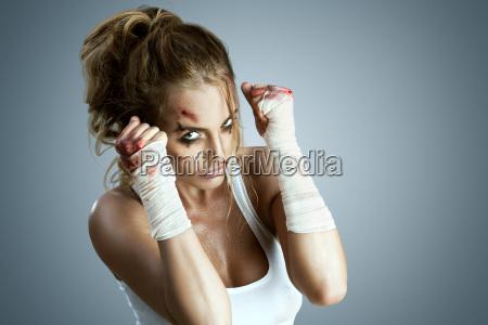 donna sport dello sport forte competizione