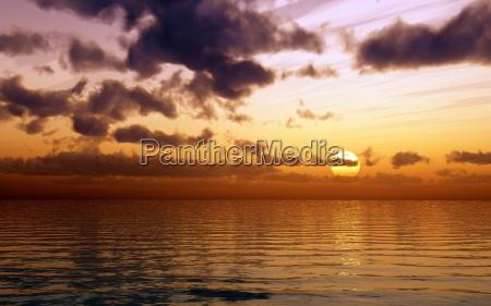 colore tramonto onde sera riflesso dorato