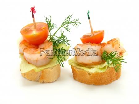 frutti di mare gamberetti antipasto mangiare