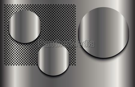 metallo punti tre modello cartamodello ombre