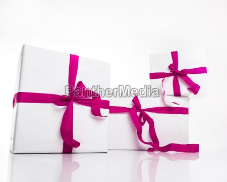 confezione regalo di natale bianco con