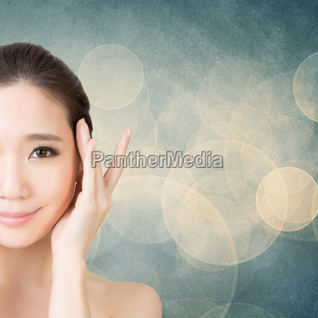 faccia bellezza asiatica