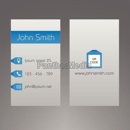 business card template modern light