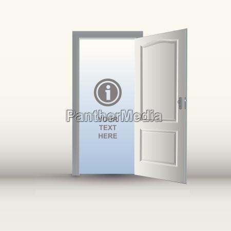 open white door template
