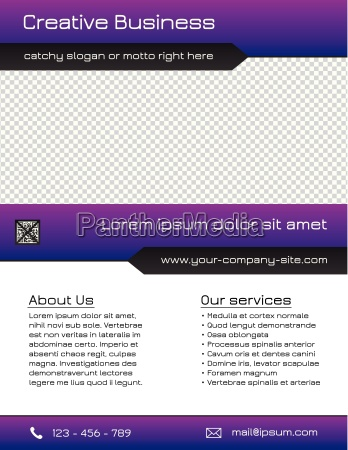 business multipurpose flyer template purple