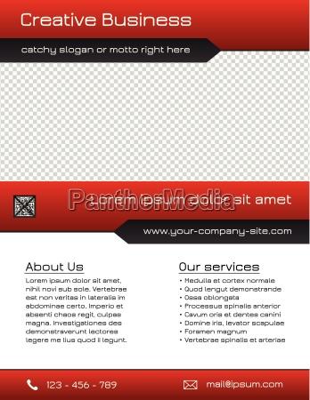modello multifunzione flyer aziendale rosso