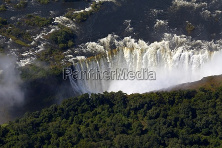 africa cascata fotografia aerea arcobaleno gola