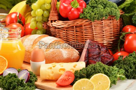 zusammensetzung mit verschiedenen bio lebensmittelprodukte