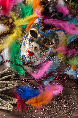 penne piume festa carnevale mascherarsi