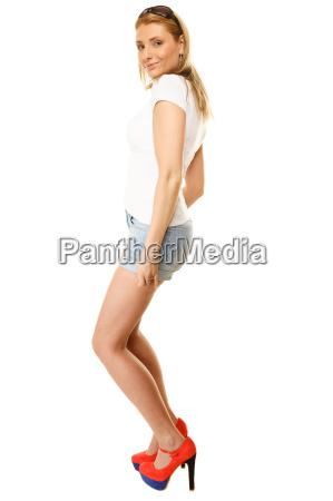 donna gambe blu persone popolare uomo
