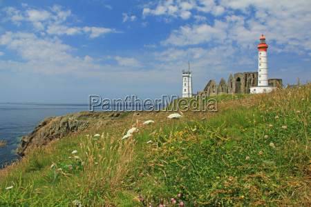 lighthouse saint mathieu brittany france
