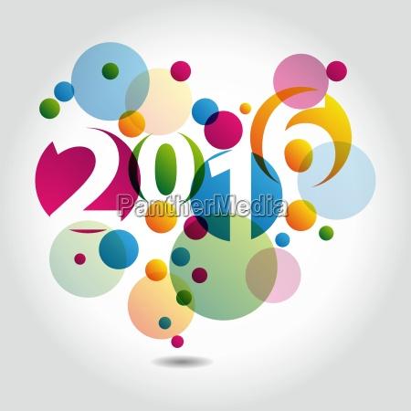 priorita bassa astratta felice anno nuovo