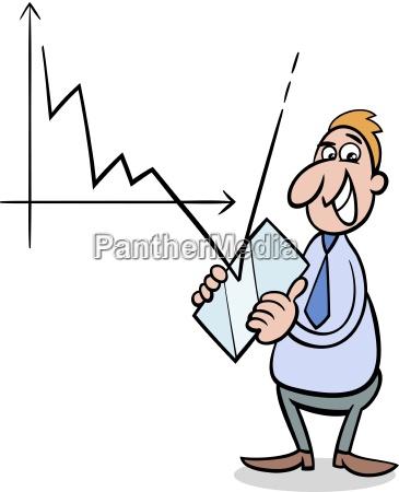 crisi economica cartone animato illustrazione