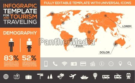 modello di infografica per il turismo