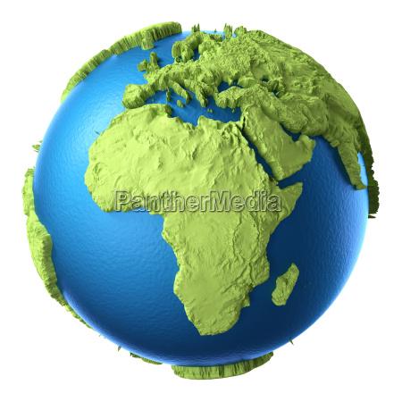 rilasciato africa europa appartato isolato globo