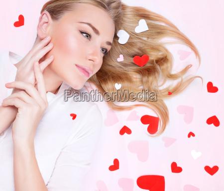 donna bello bella romantico ritratto san
