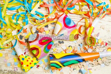 decorazione del partito colorato