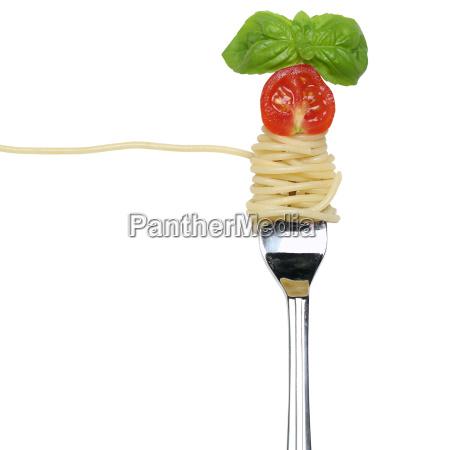 rilasciato opzionale pasta spaghetti tagliatelle forchetta