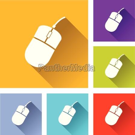cliccare click pulsante piatto icona schiocco