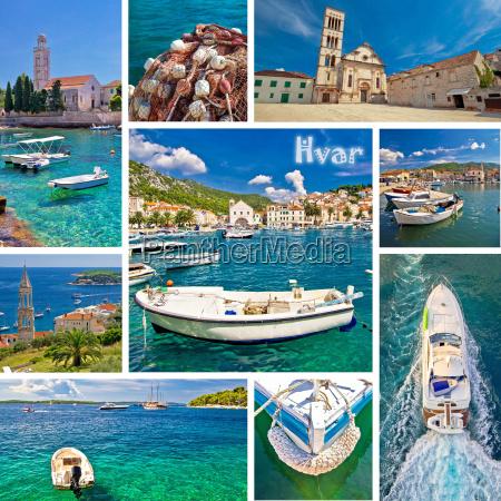 isola di hvar destinazione turistica collage