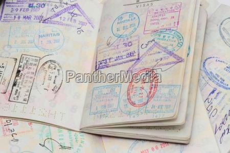 visto sul passaporto