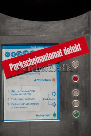 parkscheinautomat defekt