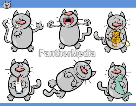 animale domestico peluche illustrazione raccolta gattino