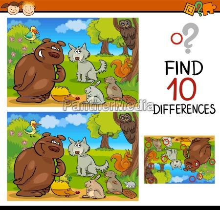 educazione animali illustrazione enigma trovare scoperta