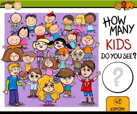 conteggio gioco fumetto illustrazione