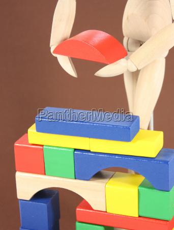casa costruzione costruire manichino di legno