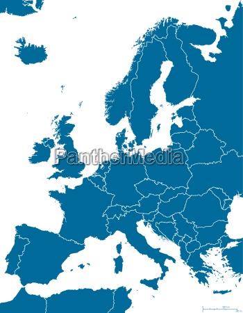 struttura della mappa politica europea
