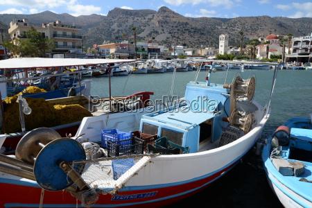 fishing port of elounda crete