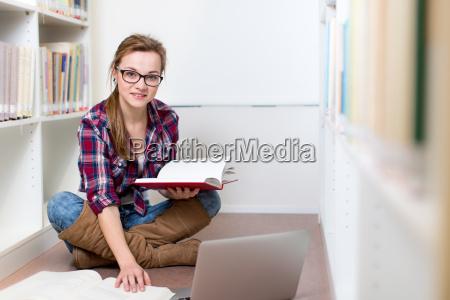 femminile biblioteca studente femmina collegio college