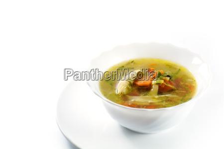 piatto cibo pasto pollo brodo verdure