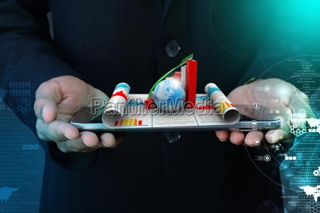 profilo blu bicchiere ufficio grafico progettazione