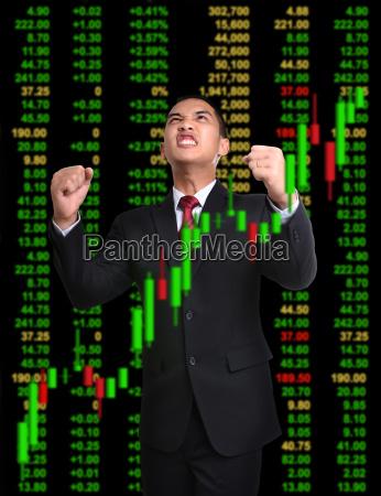 uomo daffari nel concetto di investimento