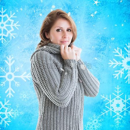 donna blu risata sorrisi moda femminile