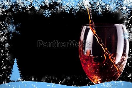 bicchiere bere albero inverno freddo vino