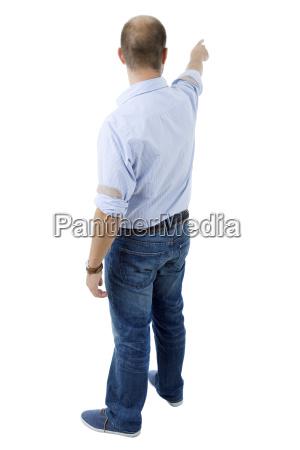 tipo rilasciato appartato schiena dietro isolato
