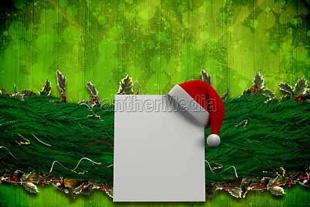 immagine composita di ramo di abete