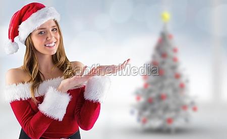composite bild von sexy santa maedchen