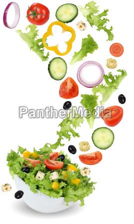insalata vegetariana sana dellalimento con pomodoro