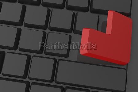 tastiera nero illustrazione elaborazione entrare digitale