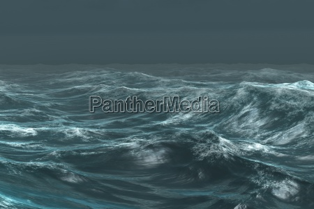 blu ruvido onde illustrazione digitale nuvole