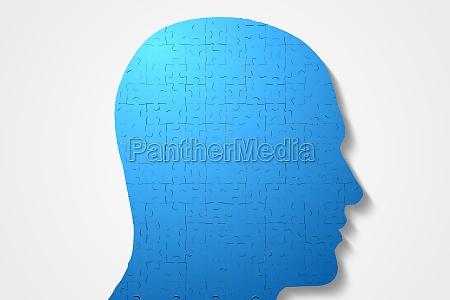 blu illustrazione digitale puzzle parte segmento