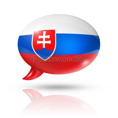 bolla di discorso della bandiera slovacca