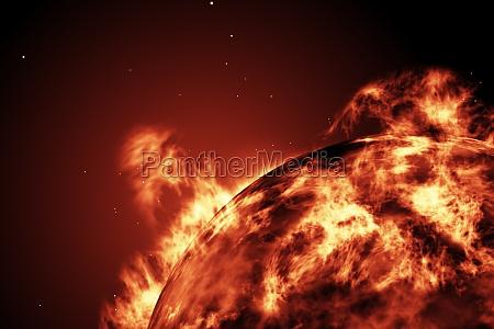 grande, palla, di, fuoco, del, sole - 13749933