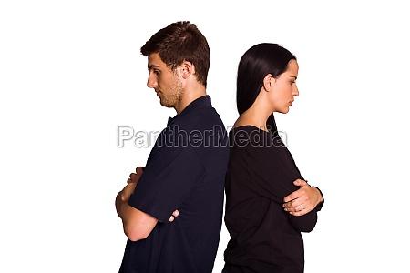coppia non parlare dopo largomento