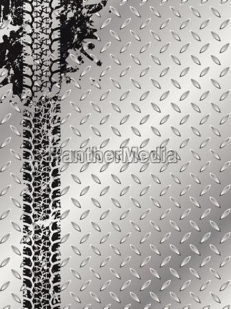 opuscolo industriale con pista di pneumatico