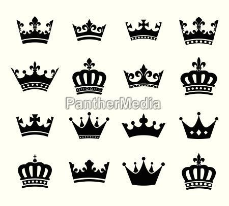 raccolta di simboli sagoma corona vol2